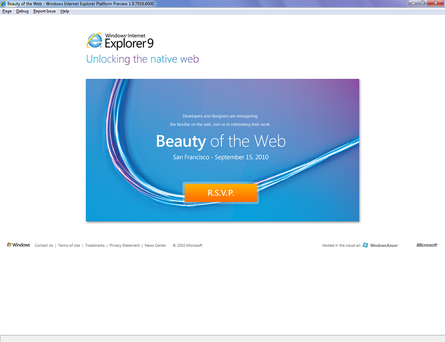 [Info] Internet Explorer 9 Platform Preview